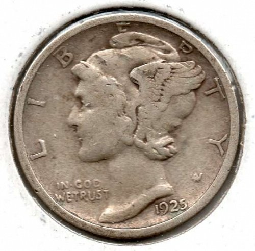 1925 S Mercury Dimes