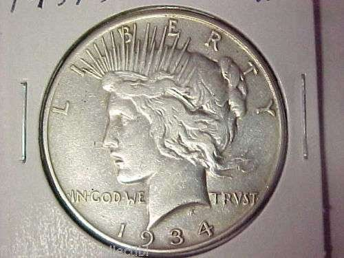 EF45 1934 S Peace Dollar Key Date
