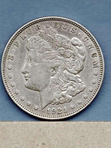 EF+ 1921 D Morgan Head Silver Dollar Genuine Natural US Coin