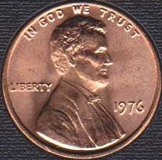 1976 P Lincoln Memorial Cent