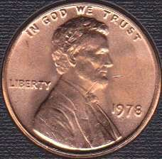 1978 P Lincoln Memorial Cent