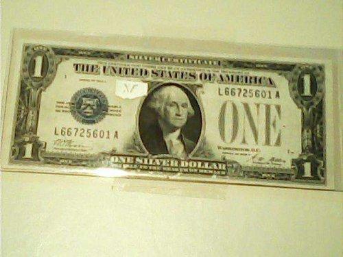 "1928 A XF one dollar silver certificate ""FUNNY MONEY"" Rare bill"