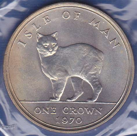 Isle of Man One Crown 1970