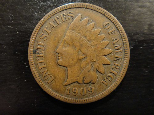 1909 Indian Cent Fine-15 Nice Light Chocolate Brown Coin!