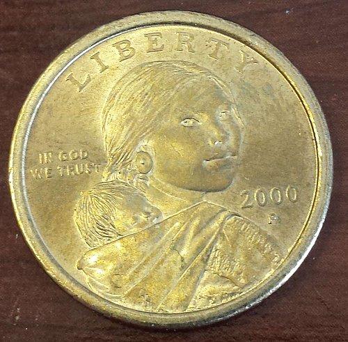 2000-P Sacagawea Dollar (Golden) (5369)