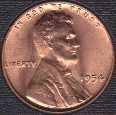 1954 P Lincoln Wheat Cent