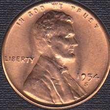 1954 S Lincoln Wheat Cent *Error