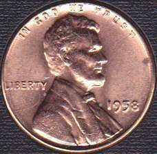 1958 P Lincoln Wheat Cent