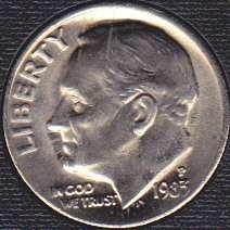 1983 P Roosevelt Dimes