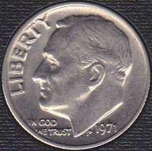 1971 P Roosevelt Dime