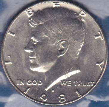 1981 D Kennedy Half Dollar