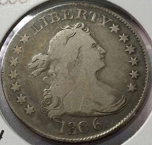 1806 Draped Bust Quarter ~ B-4, R-4 ~ Fine