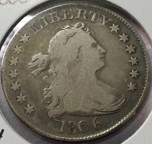 1806 Draped Bust Quarter ~ B-4, R-4 ~ Fine