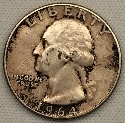 1964 P Washington Quarter - Toned