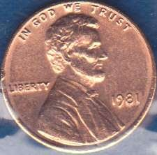 1981 P Lincoln Memorial Cent