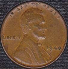1940 P Lincoln Wheat Cent