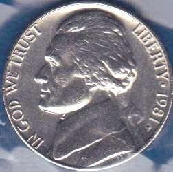 1981 P Jefferson Nickel