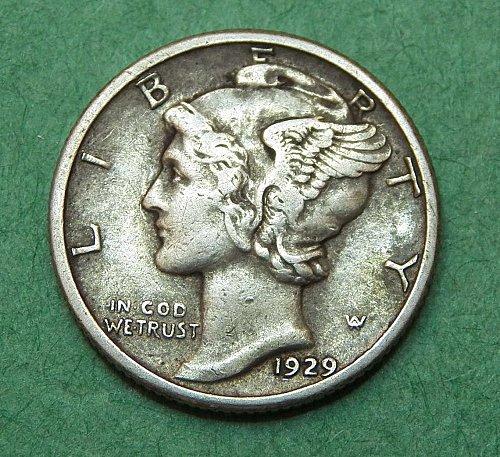 1929 P mercury Dime Very Fine Coin   b37