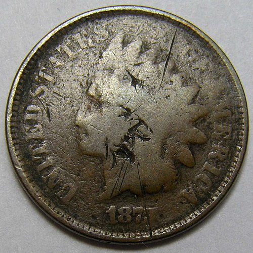 1873 P INDIAN HEAD Cent #5 Open 3