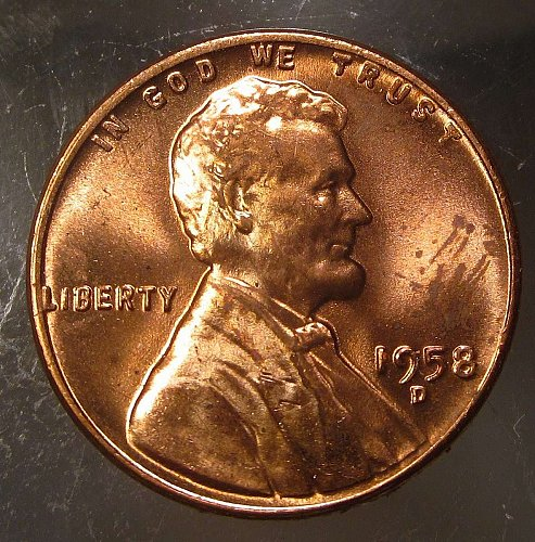 1958 D Lincoln Wheat Cent Small Cents: Nice Penny