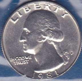 1981 P Washington Quarter