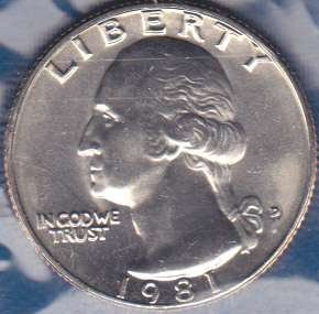 1981 D Washington Quarter