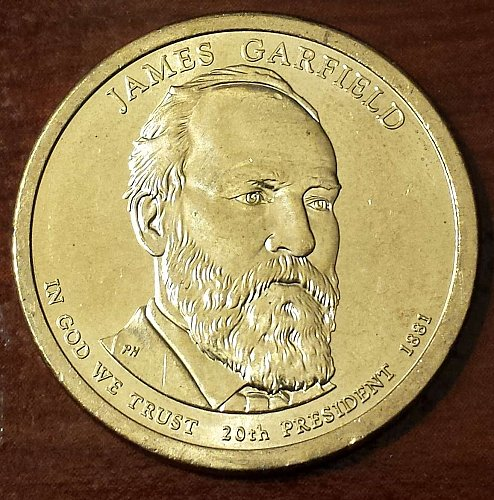 2011-P James Garfield Presidential Dollar (5478)