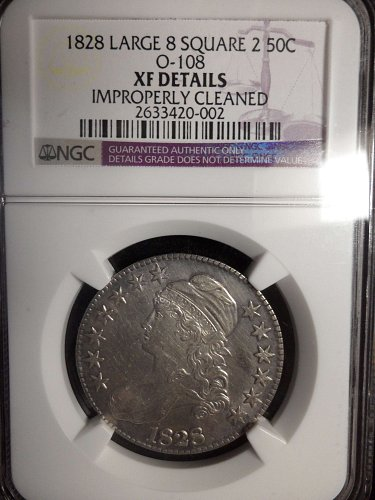 1828 P Overton 0-108 NGC Graded XF Details