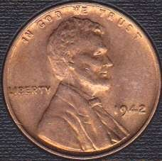 1942 P Lincoln Wheat Cent