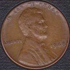 1948 P Lincoln Wheat Cent