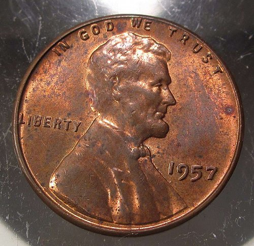 1957 Lincoln Wheat Cent Small Cents: Nice Penny