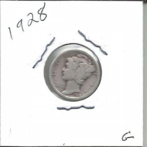 1928  MERCURY DIME