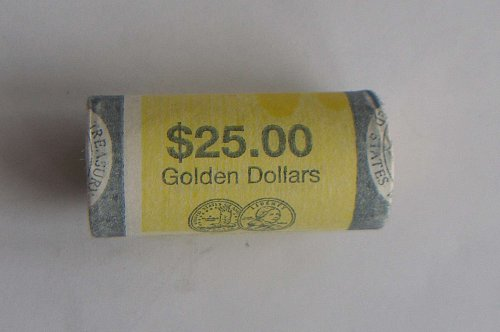 Roll of Sacagawea Gold Dollars and 5 spares 2000 P mint