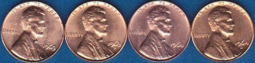 Lincoln Memorial Cents 1963P 1963D 1964P 1964D