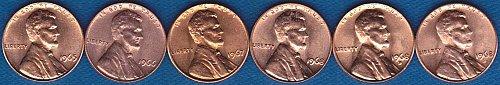 Lincoln Memorial Cents 1965P 1966P 1967P 1968P 1968D 1968S