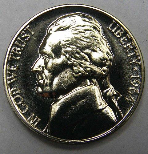 1964 P Jefferson Nickel PROOF #2