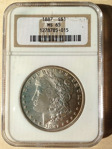 NGC MS65 1887 Morgan Dollar
