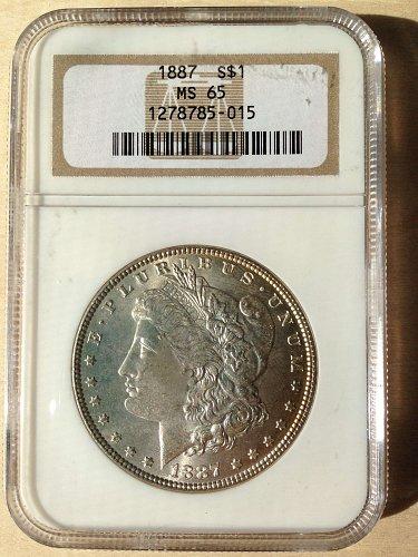 NGC MS65 1887 Morgan Dollar