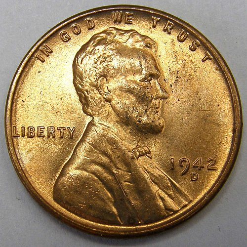 1942 D Lincoln Wheat Cent #1