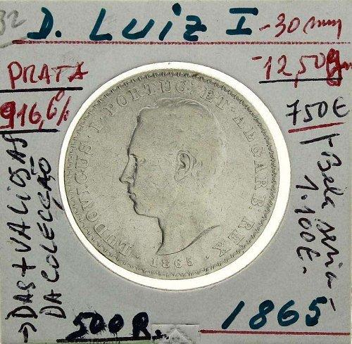 Portugal 1865 500 Reis