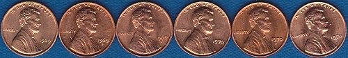 Lincoln Memorial Cents 1969P 1969D 1969S 1970P 1970D 1970S