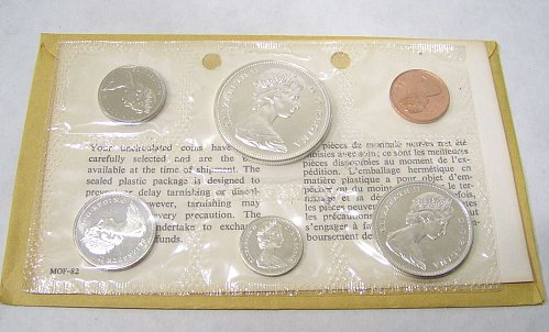 1967 Canadian Silver Mint Set 1867-1967 Centennial 6 Coins Proof-Like