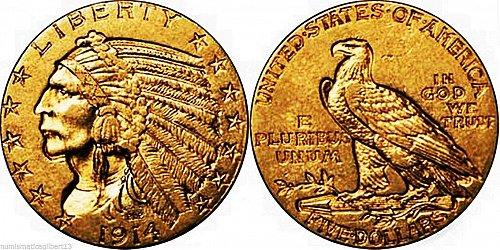 U.S.A.  5 dollari - half eagle - 1914