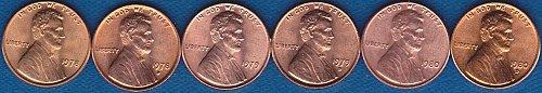 Lincoln Memorial Cents 1978P 1978D 1979P 1979D 1980P 1980D