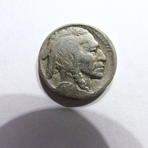 1913-D Type ll Buffalo Nickel, with Die Crack Error