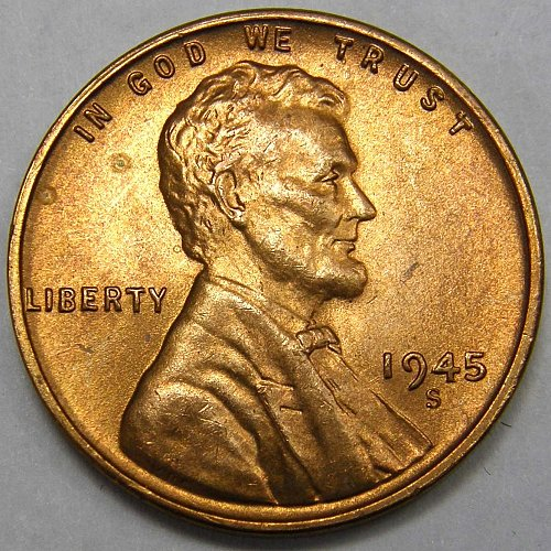 1945 S Lincoln Wheat Cent #2