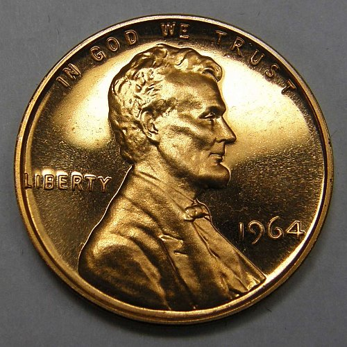 1964 P Lincoln Memorial Cent #2 CAMEO PROOF