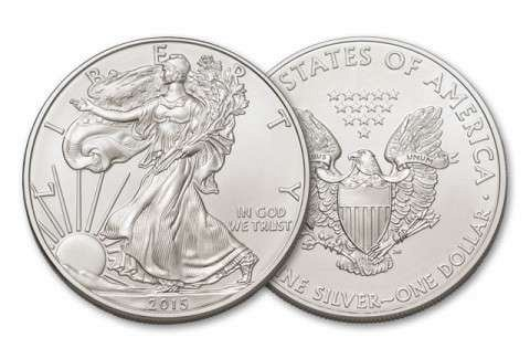 Silver American Eagle 2015 One Ounce Silver Brilliant Uncirculated Coin