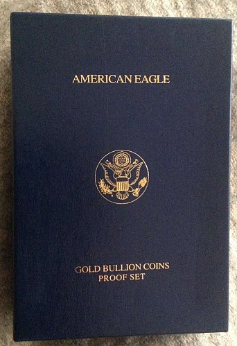 2005 American Eagle Gold Proof 4 Coin Set with Box and Papers