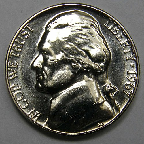 1967 P Jefferson Nickel SMS